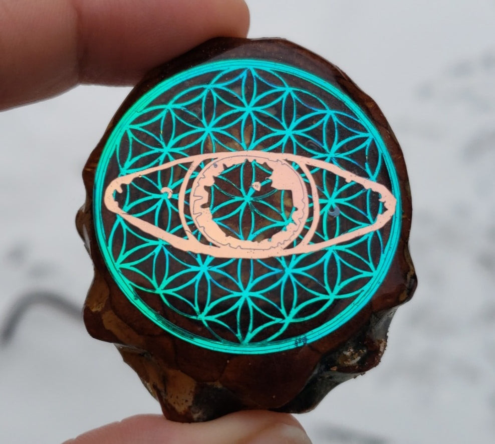 G Jones eye over flower of life