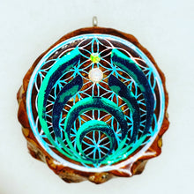 Load image into Gallery viewer, Bassdrop with opals pinecone pendant