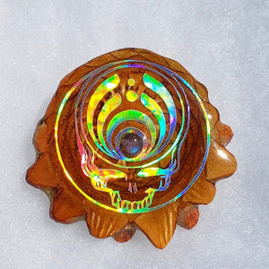 Grateful dead bassdrop with labradorite