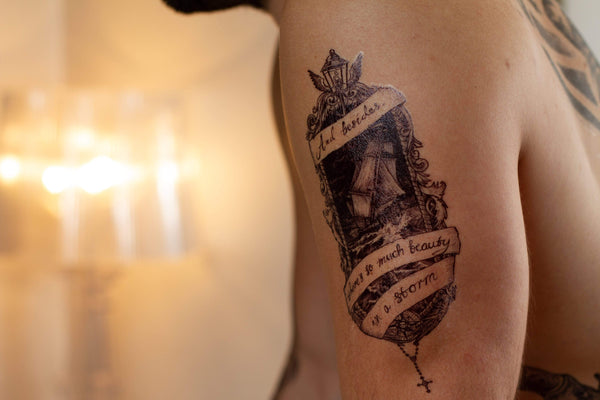Ship Temporary Tattoo