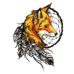 Fox Temporary Tattoo