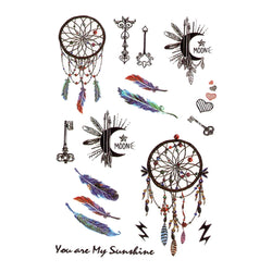 Indian Dreamcatcher Temporary Tattoo