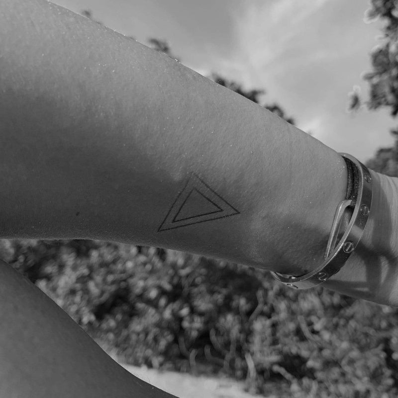 Geometric Triangle Temporary Tattoo