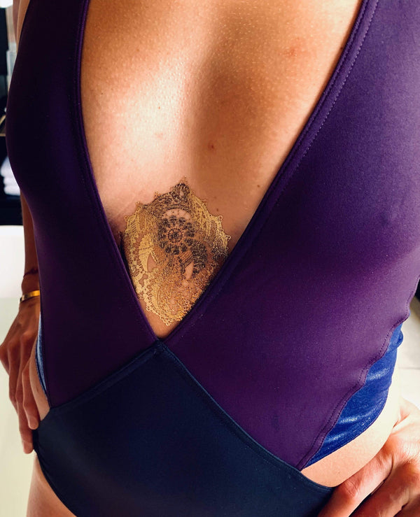 Golden Temporary Tattoo