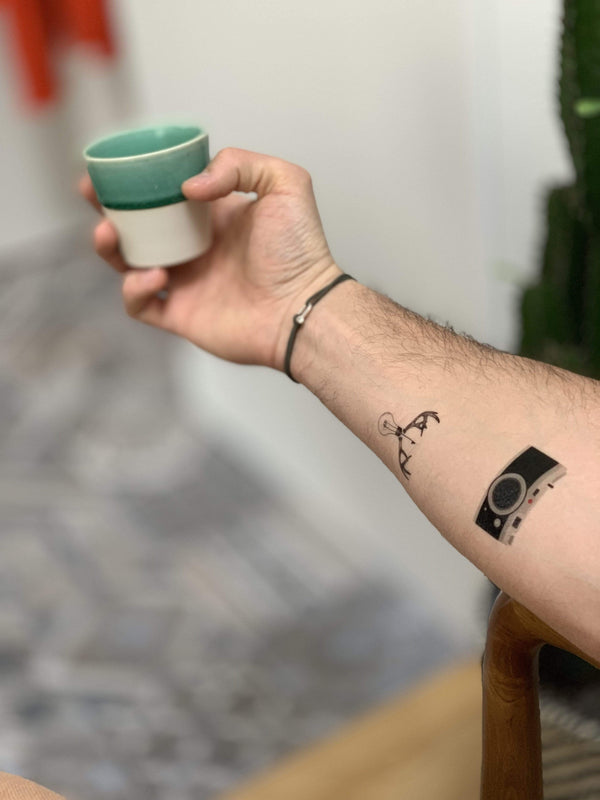 Nature Hipster Temporary Tattoo