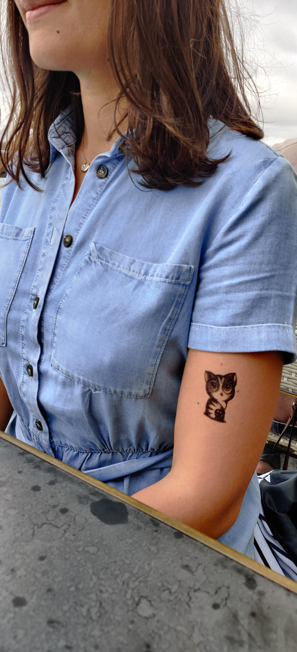 Cats Temporary Tattoo