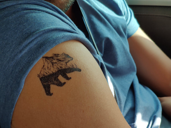Bear Temporary Tattoo
