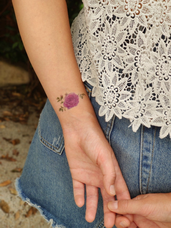 Flowers Temporary Tattoo