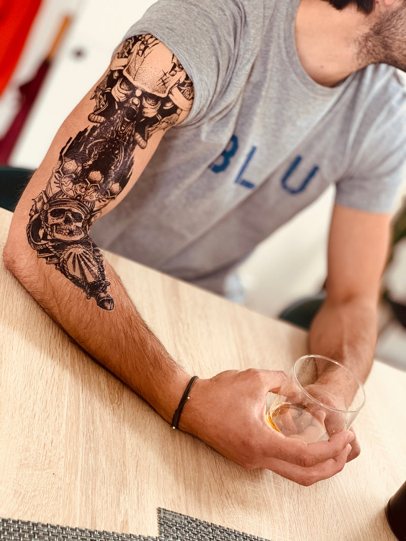 Sleeve Soldier Temporary Tattoo