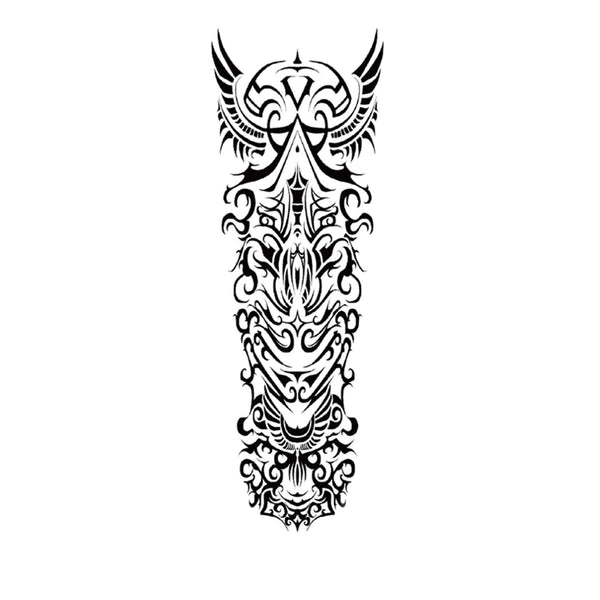 Sleeve Maori Temporary Tattoo