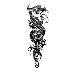 Sleeve Dragon Temporary Tattoo