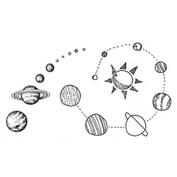 Stars / Planets Temporary Tattoo