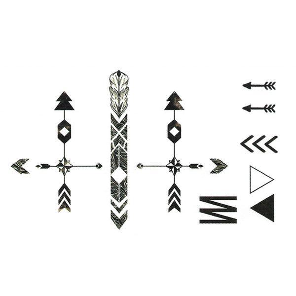 Arrows Temporary Tattoo