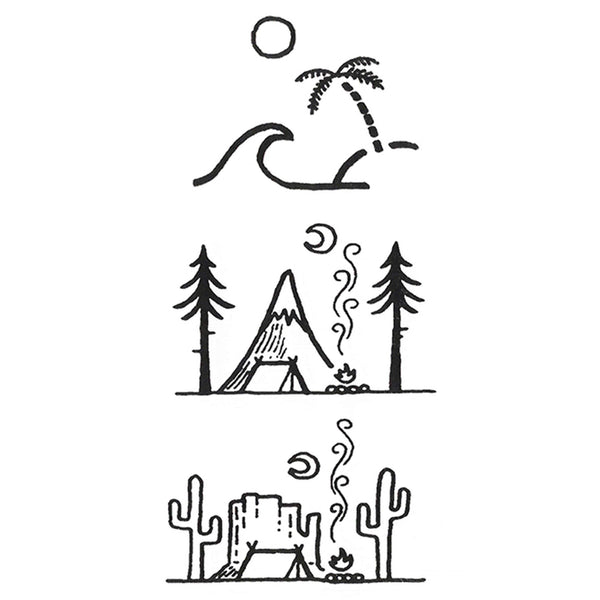 Landscapes Cartoon Temporary Tattoo