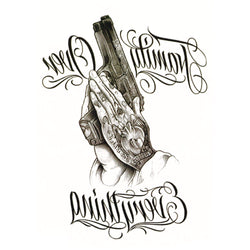 Pistol Temporary Tattoo