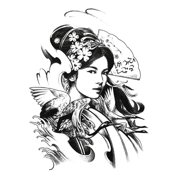 Japanese Geisha Temporary Tattoo