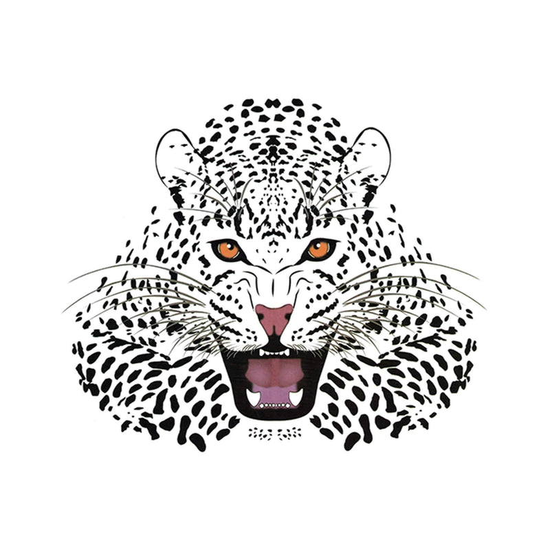 Full Color Tiger Temporary Tattoo