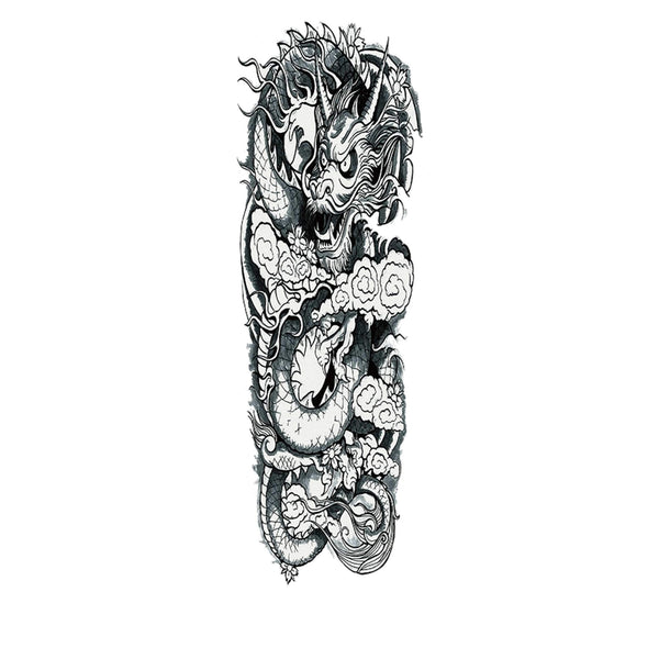 Sleeve Chinese Dragon Temporary Tattoo