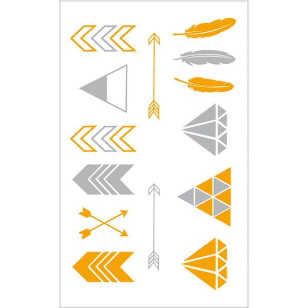 Geometric Arrows and Diamonds Temporary Tattoo