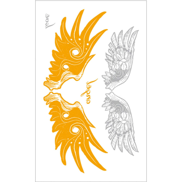 "Angel Wings ""Love and Angel"" Temporary Tattoo"