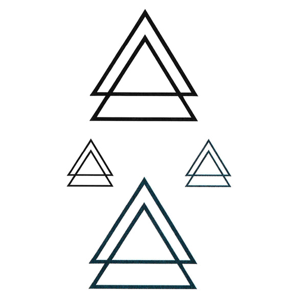 Geometric Triangles Temporary Tattoo
