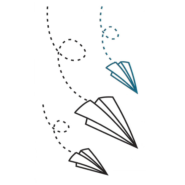 Paper Planes Temporary Tattoo