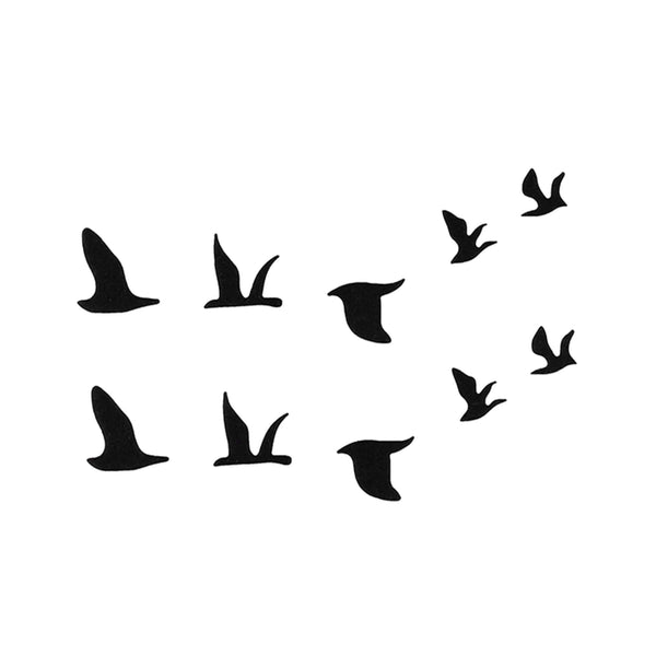 Minimalistic Birds Temporary Tattoo