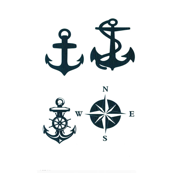 Marine Anchor Temporary Tattoo