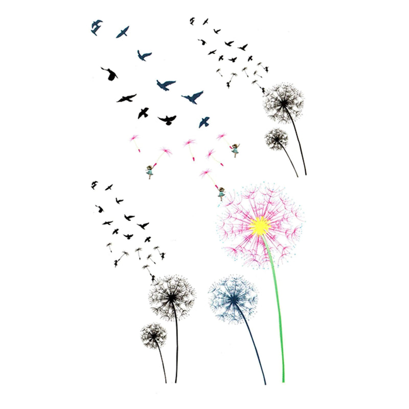 Minimalitic Nature, Flowers and Birds Temporary Tattoo