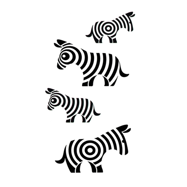 Zebra Temporary Tattoo
