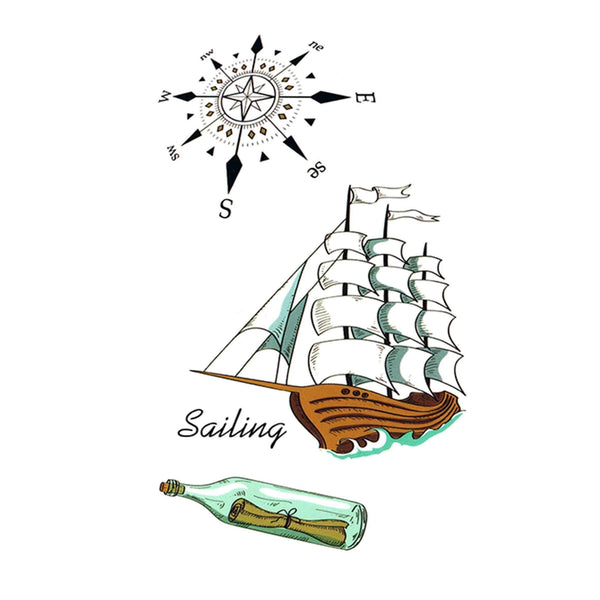 Marine / Sailing Temporary Tattoo