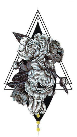Flowers Triangle Temporary Tattoo