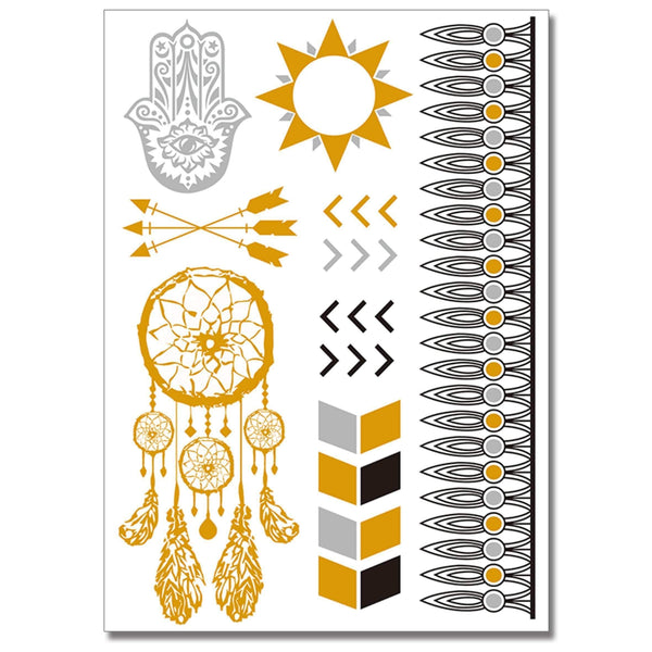 Golden Skin Jewellery Temporary Tattoo
