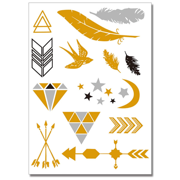 Feathers & Arrows Temporary Tattoo