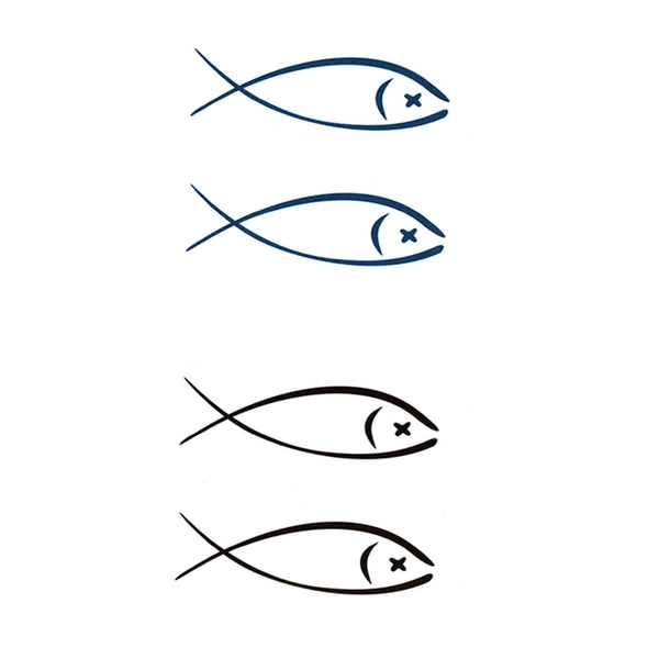 Minimalistic Fish Temporary Tattoo
