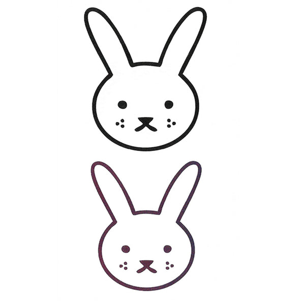 Rabbit Cartoon Temporary Tattoo