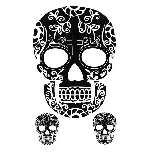 Skull Temporary Tattoo