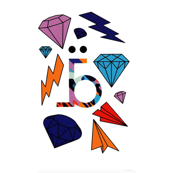Diamond Pop Temporary Tattoo