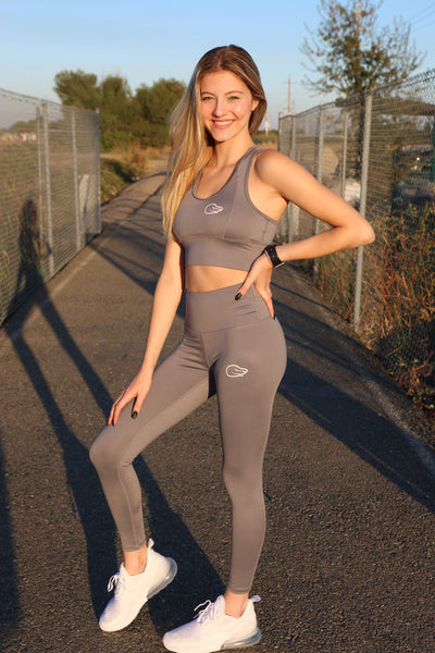 Gray High Waisted Leggings