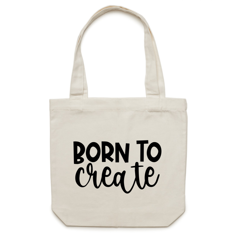 Born to create - Canvas Tote Bag