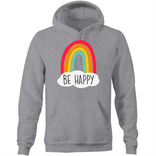 Load image into Gallery viewer, Be happy - Pocket Hoodie