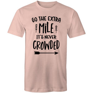 Go the extra mile, it's never crowded