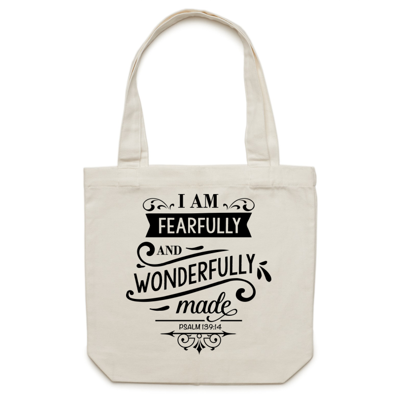 I am fearfully and wonderfully made - Canvas Tote Bag