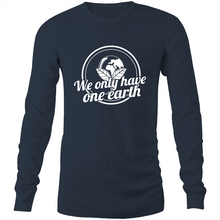 Load image into Gallery viewer, We only have one earth Long Sleeve T-Shirt