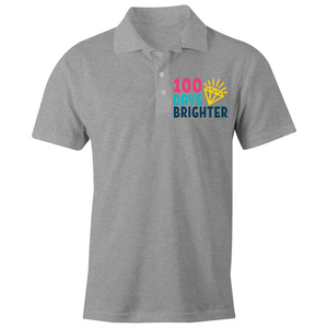 100 Days Brighter - S/S Polo Shirt
