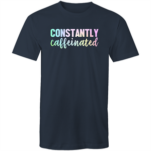 Constantly caffeinated (rainbow print)