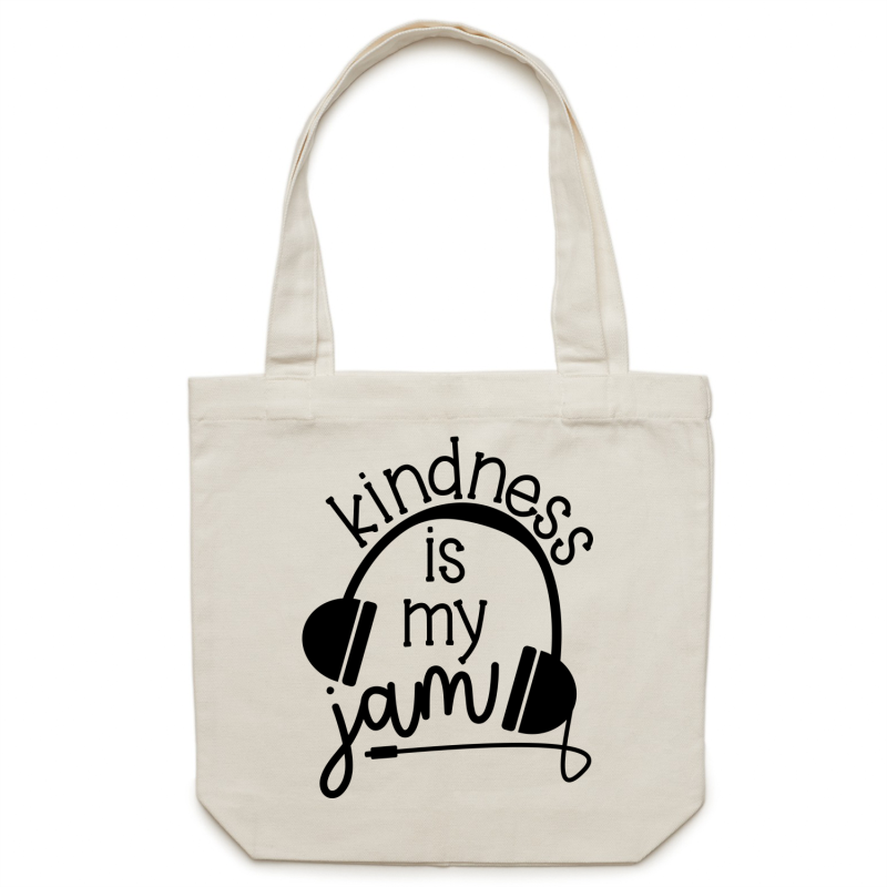 Kindness is my jam - Canvas Tote Bag