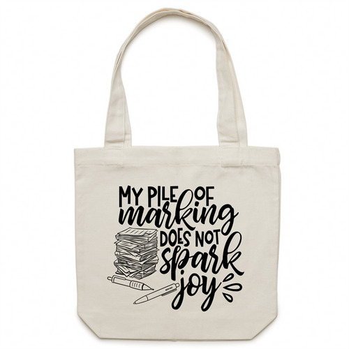 My pile of marking does not spark joy - Canvas Tote Bag