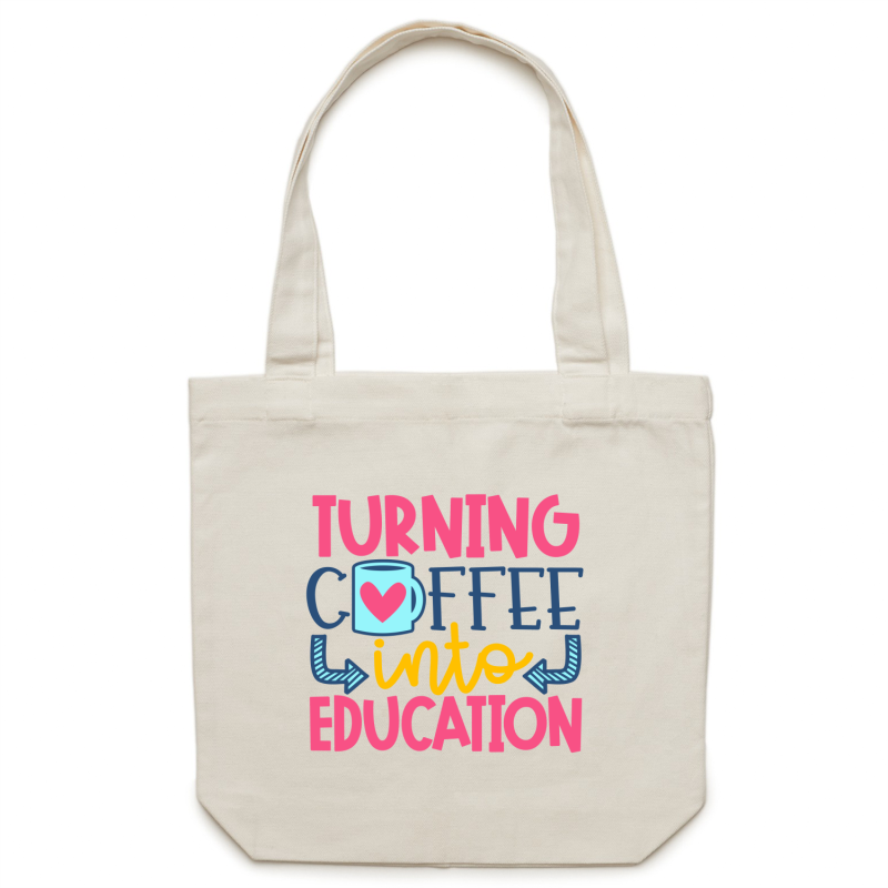Turning coffee into education - Canvas Tote Bag