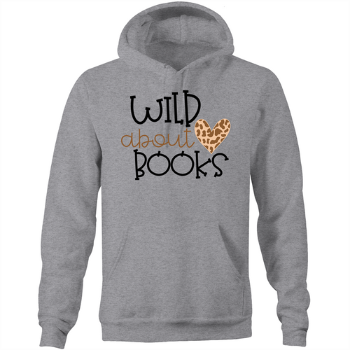Wild about books - Pocket Hoodie Sweatshirt